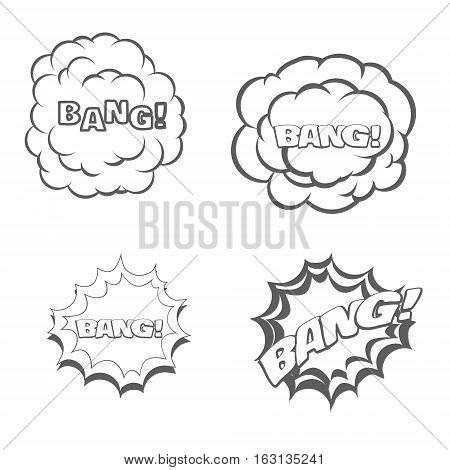 Bang blast flash comics blow isolated on white vector illustration