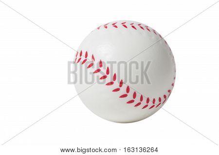 White Toy Baseball over white background isolated