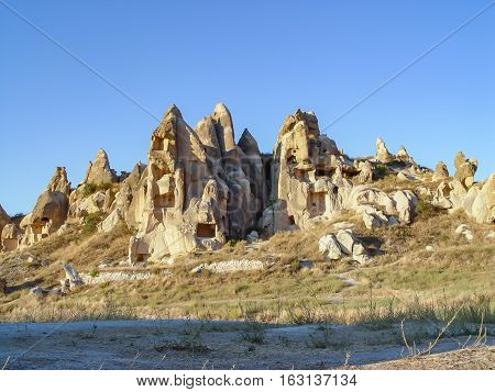 Volcanic Cliffs And Rock Formations At Cappadocia