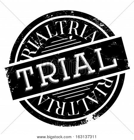 Trial stamp. Grunge design with dust scratches. Effects can be easily removed for a clean, crisp look. Color is easily changed.
