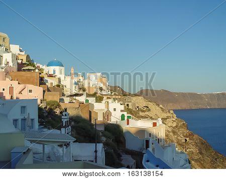 Amazing View Of Oia Village At Santorini