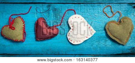 Red Heart On The Blue Boards