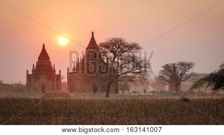 Buddhist Temple In Bagan, Myanmar