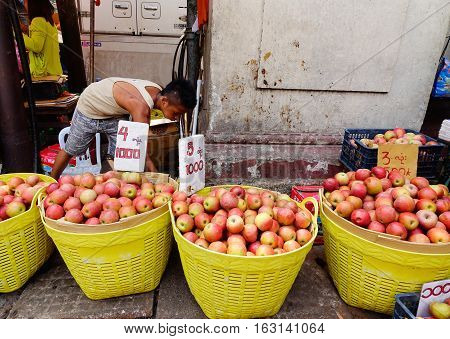 People Selling Fruits At Market