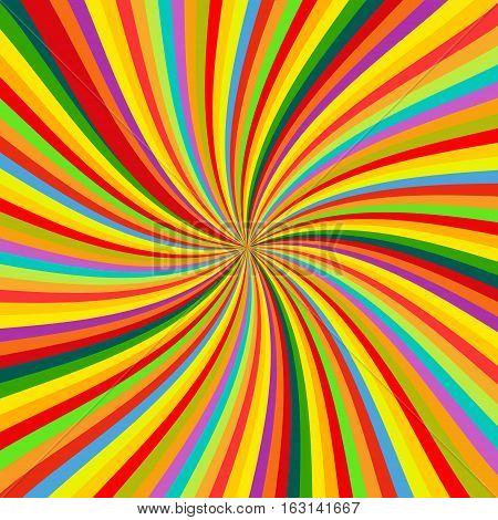 Abstract Colorful retro rotation Background vector illustration