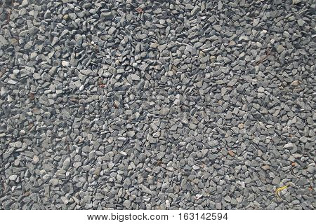 The picture close-up to gray gravel background