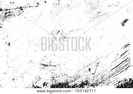 Vector grunge texture. Abstract brushed background, old painted wall. Overlay illustration over any design to create grungy vintage effect and depth. For posters, banners, retro and urban designs.
