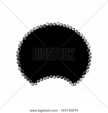 Afro Hair isolated. Traditional African American Hairstyle on white background. disco wig template