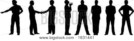 Blak And White Image Of The Men