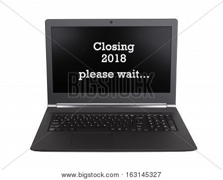 Laptop Isolated - New Year - 2018 - 2019