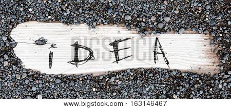 Sand On Planked Wood - Idea