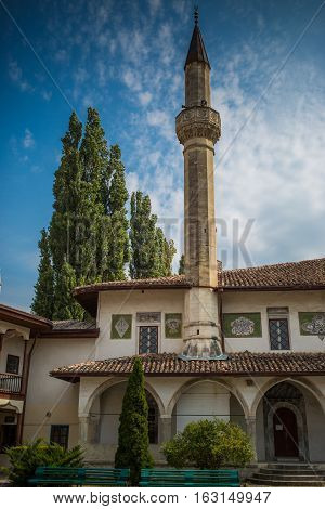 The Bakhchisaray Palace-residence of Crimean khans in XVI century. Bakhchisaray, Crimea.