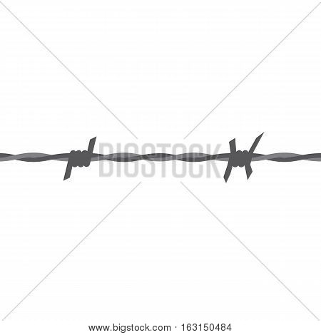 Barbed wire seamless vector with flat color style design.