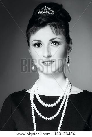 The Girl In The Image Of Audrey Hepburn