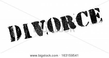 Divorce rubber stamp. Grunge design with dust scratches. Effects can be easily removed for a clean, crisp look. Color is easily changed.