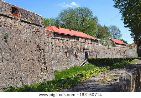 High Stone Walls Of The Uzhhorod Castle