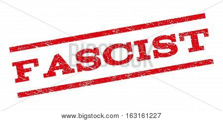Fascist watermark stamp. Text caption between parallel lines with grunge design style. Rubber seal stamp with scratched texture. Vector red color ink imprint on a white background.