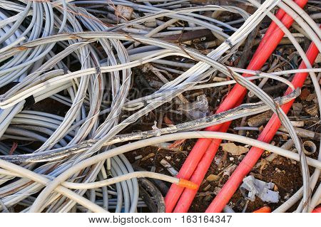 Electric Cable Obsolete In A Andfill