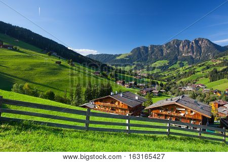 The village of Inneralpbach in Alpbach ValleyAustriaTirol