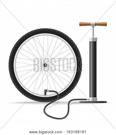 car hand air pump stock vector illustration isolated on white background