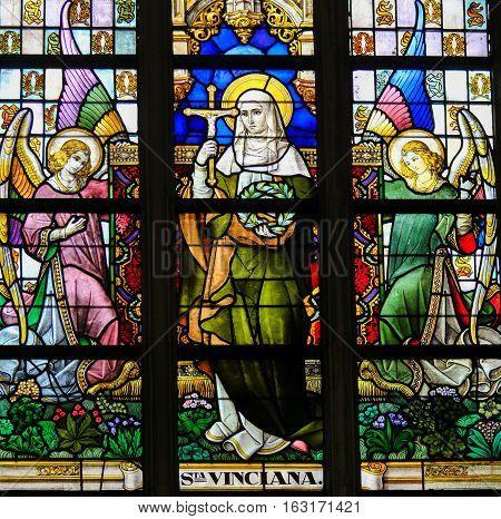 Stained Glass - Saint Vinciana