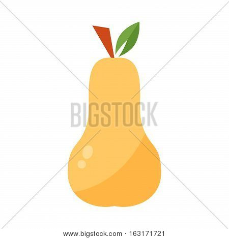 Fresh per icon organic food. Sweet vegetarian fruit agriculture isolated on white. Vitamin natural snack color delicious dessert. Refreshment dish nutritious.