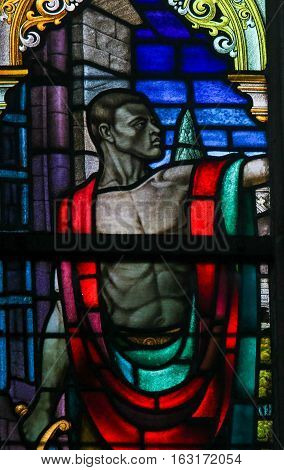 Stained Glass - Black Man