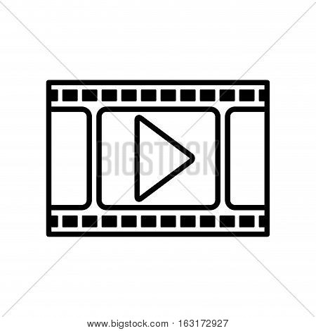 Movie and filmstrip icon. Cinema video film and media theme. Isolated design. Vector illustration