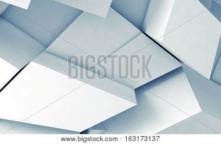 Fragments With Soft Blue Shadows, 3D