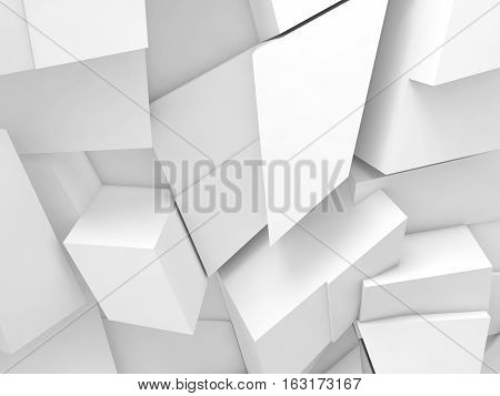 White Chaotic Fragments Pattern, 3D