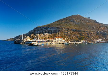 AG. MARINA, GREECE - DECEMBER 11, 2016: Leros island in Dodecanse archipelago in eastern Aegean on December 11, 2016.