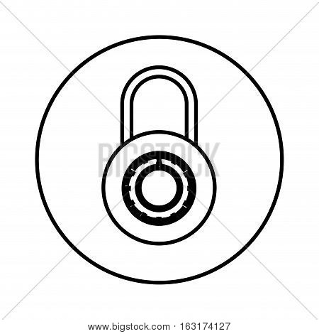 Padlock icon. Security system warning and protection theme. Isolated design. Vector illustration