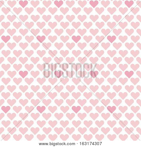 valentine seamless polka dot geometry pattern with hearts.  simple cute heart shape repeatable motif for fabric, wrapping paper, background