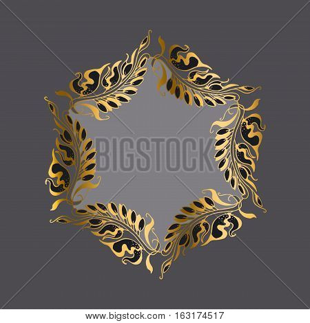 gold on gray Art Nouveau style vector illustration