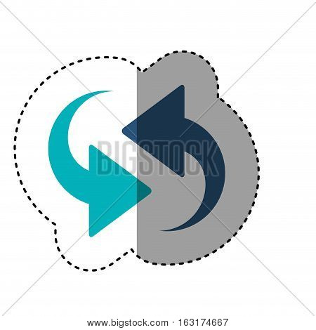 Arrows icon. App media multimedia internet and web theme. Isolated design. Vector illustration