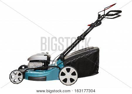 Wheel 4-stroke Drive Petrol Blue Lawn Mower