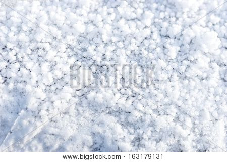 Natural snow background, winter texture and background