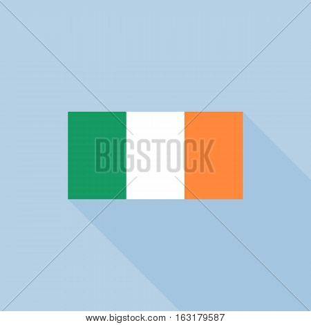Ireland flag , flat design vector with official proportion