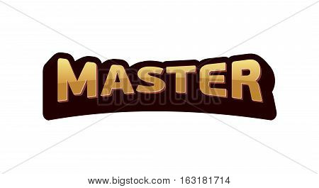 Logo Master lettering Brand symbol service mark. Isolated on white background. For repair of cars, motorcycles, and technology.