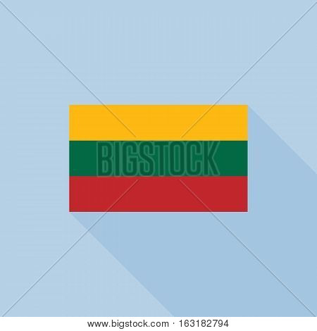 Lithuanian flag , flat design vector with official proportion