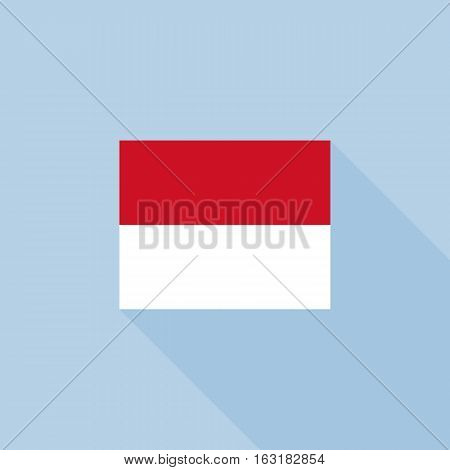 Monaco flag , flat design vector with official proportion