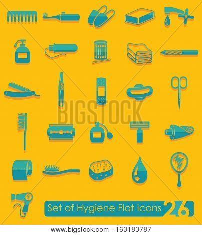 Set of hygiene flat icons for Web and Mobile Applications