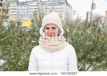 The Girl In A White Down-padded Coat