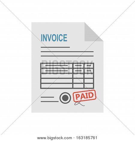 Invoice icon in the flat style, isolated from the background. Payment and billing invoices, business or financial operations sign. Vector icon invoice for services rendered.