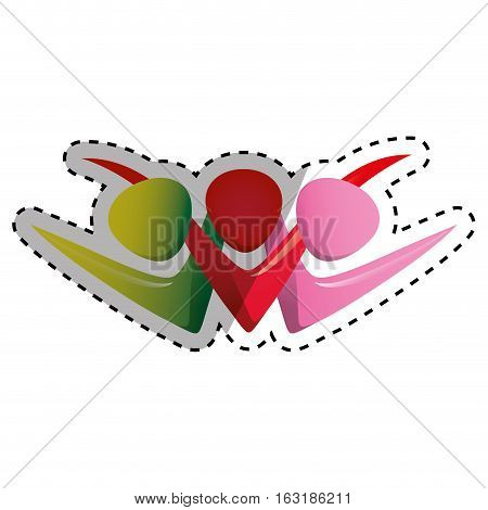 People abstract pictogram icon vector illustration graphic design