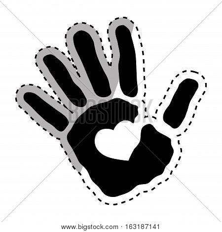 Human hand silhouette icon vector illustration graphic design