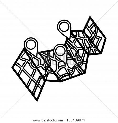 City map location icon vector illustration graphic design