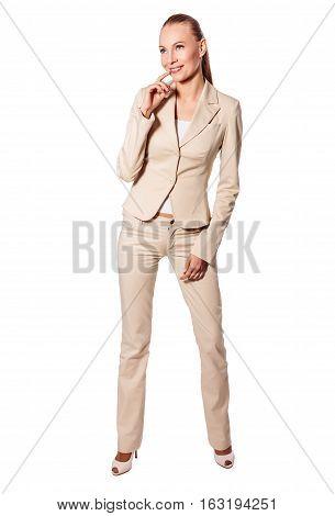 Standing Serious Businesswoman