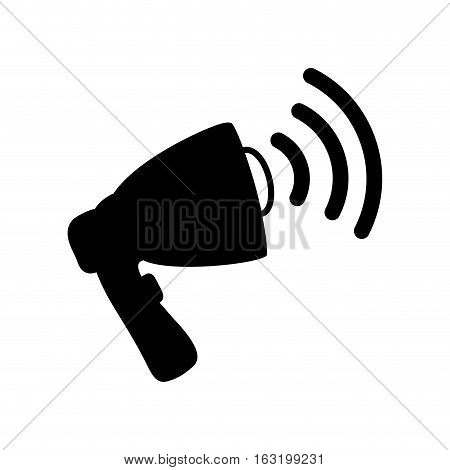 Bullhorn speaker symbol icon vector illustration graphic design