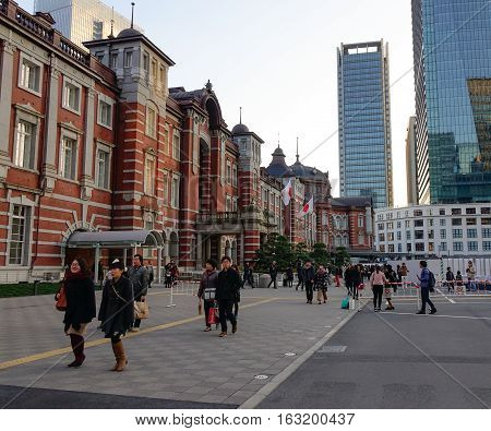 Main Station In Tokyo, Japan